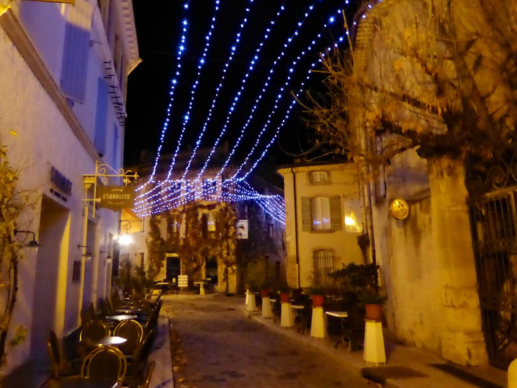 Christmas streets in Lourmarin, Luberon, Provence, France