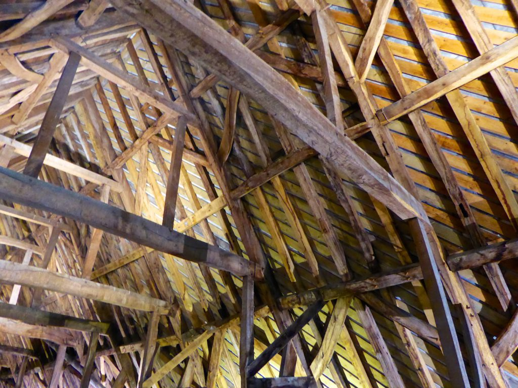Salisbury cathedral medieval roof structure, Salisbury, Wiltshire, England