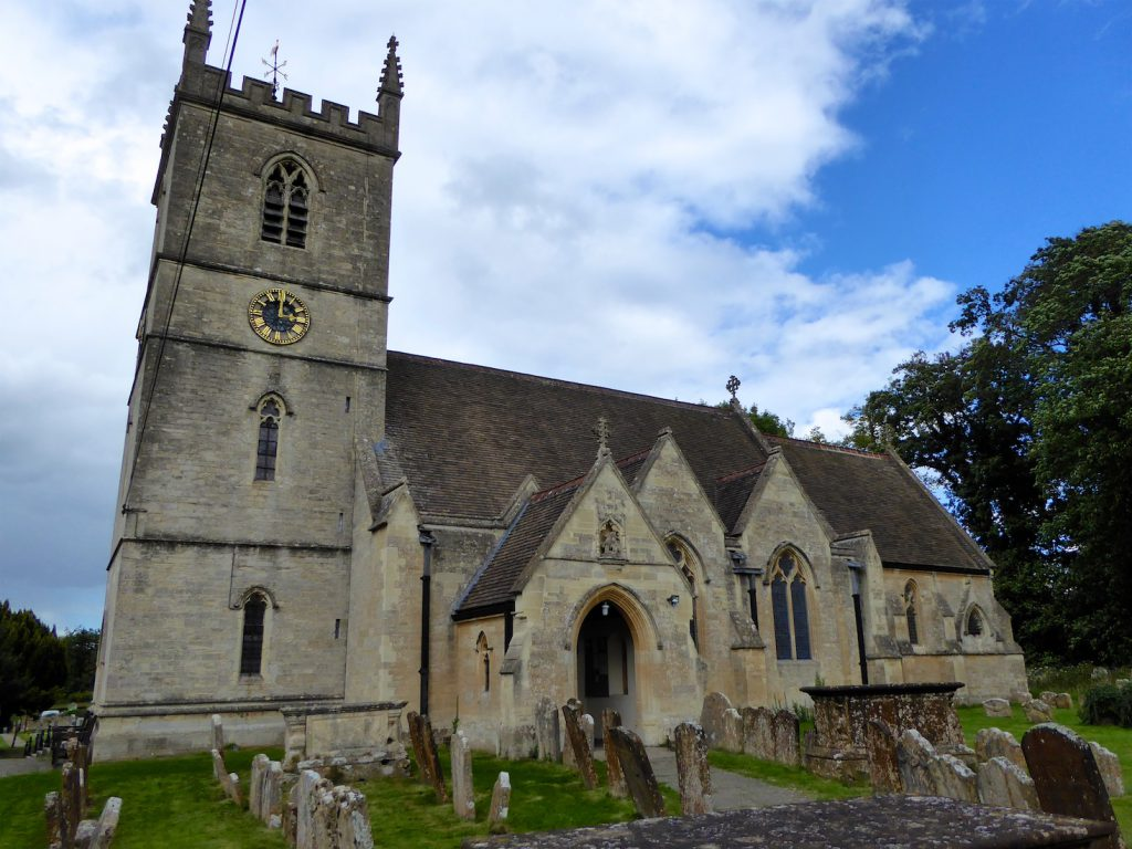 Bladon Church, Bladon, near Woodstock, England, burial place of Winston Churchill