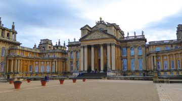 Front of Blenheim Palace, Woodstock, England, birth place of Sir Winston Churchill