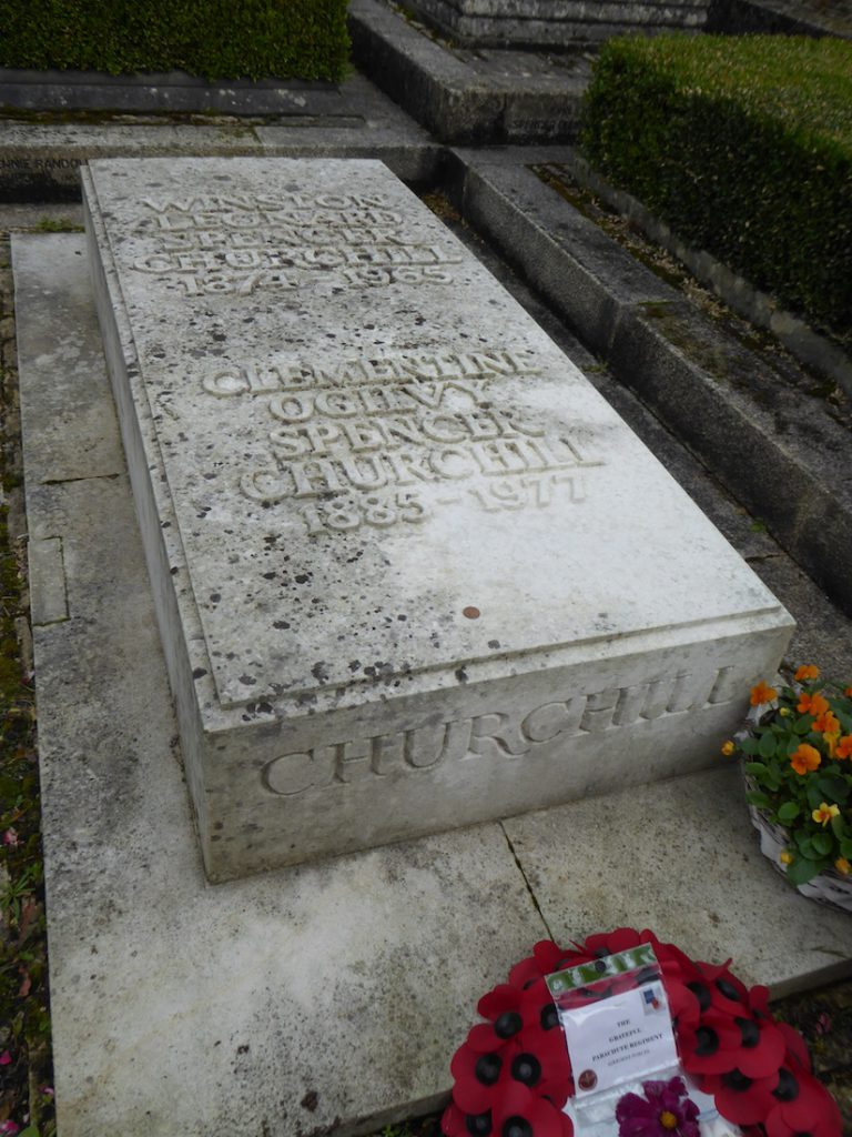 Grave of Winston Churchill at Bladon Church, Bladon, near Woodstock, England
