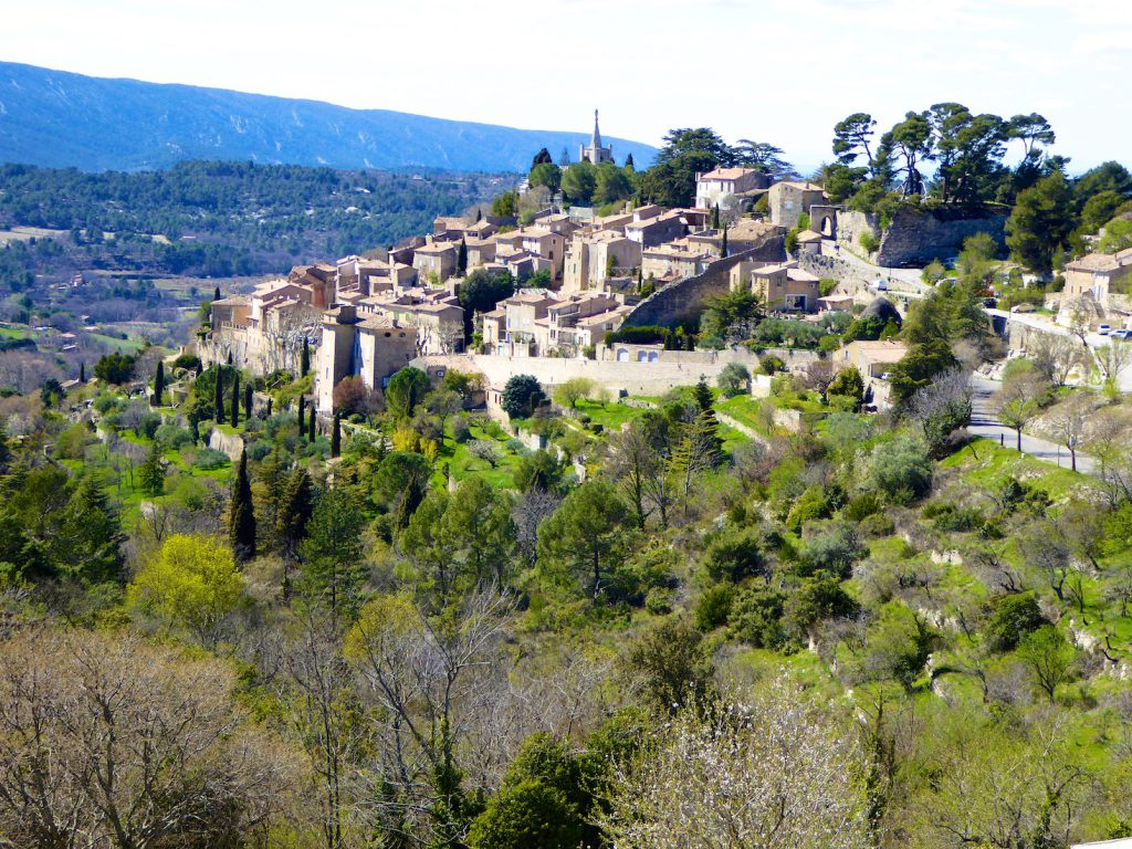 A view of Bonnieux from La Bergerie, Luberon, Vaucluse, Provence