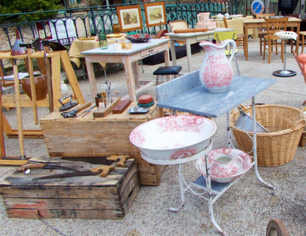 Antiques at Isle sur la Sorgue Brocante, Luberon, Vaucluse, Provence