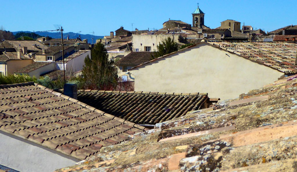 Roof tops of Lourmarin, Luberon, Vaucluse, Provence, France