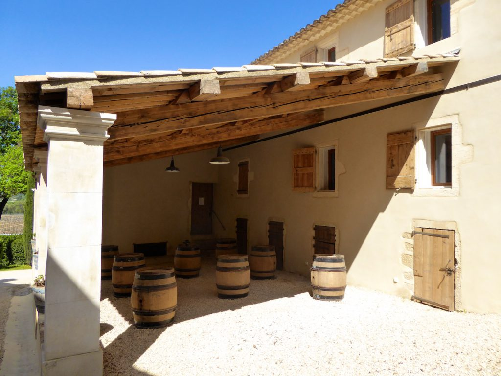 The tasting room and pied-a-terre at Le Château Constantin