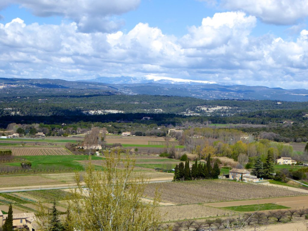 View of from Menerbes Luberon Valley, Provence, France