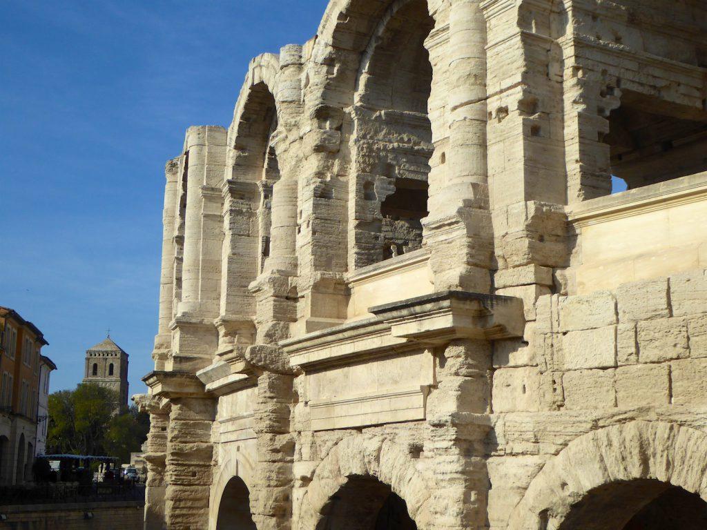 Arles Roman amphitheater Bouches-du-Rhône, Provence, France