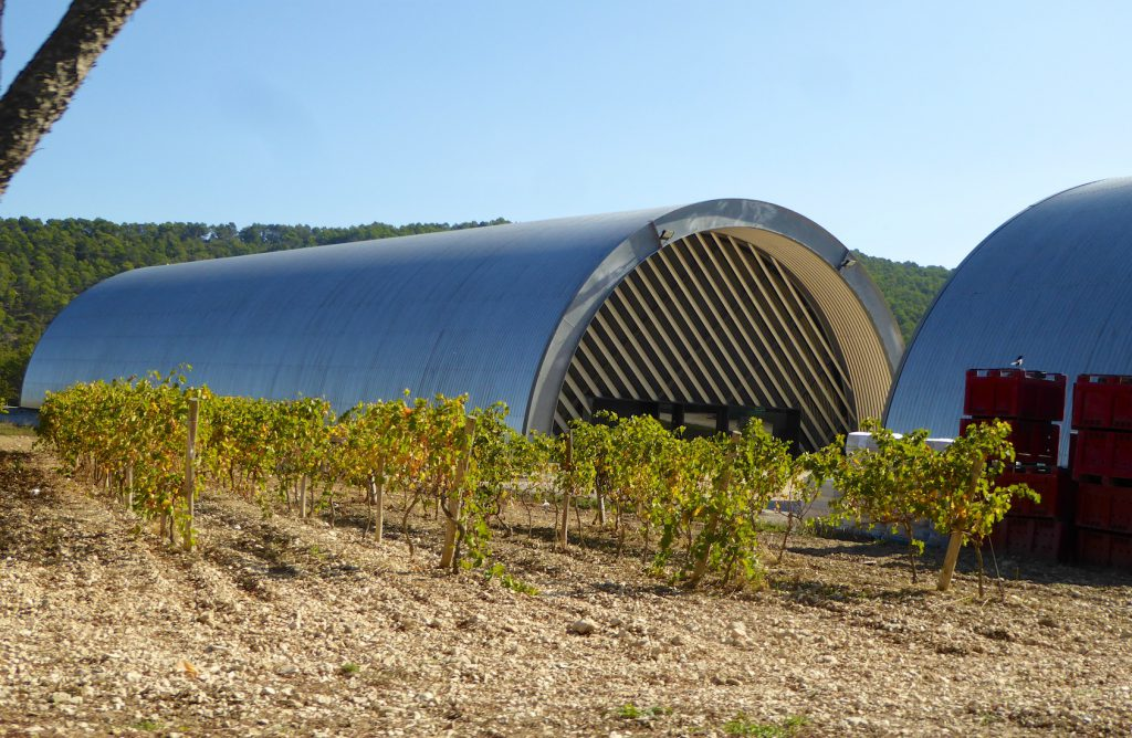 Cuverie by Jean Nouvel at Chateau La Coste, Le Puy-Sainte-Réparade, Bouches-du-Rhône, Provence, France
