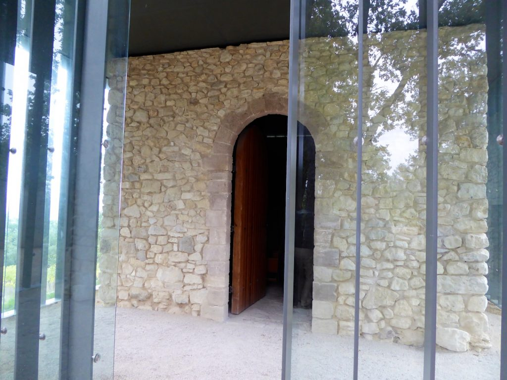 Original walls at The Chapel by Tadao Ando at Château La Coste, Le Puy-Sainte-Réparade, Bouches-du-Rhône, Provence, France