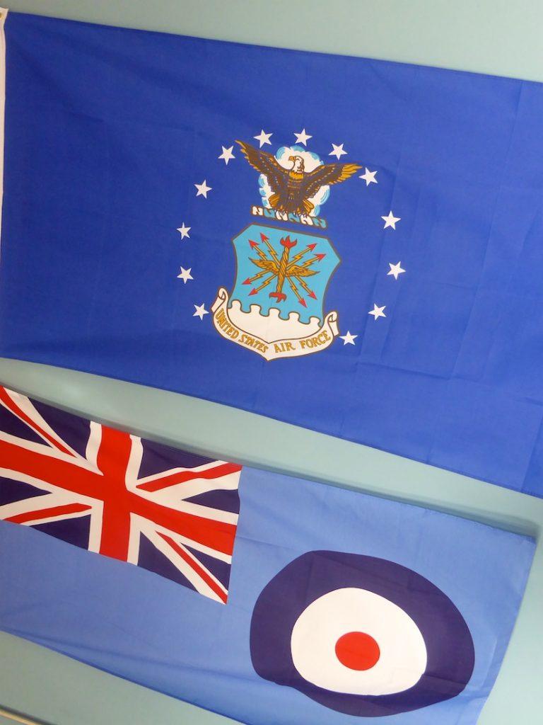 United States Air Force Flag & RAF Flag, Greenham Common, Newbury, England