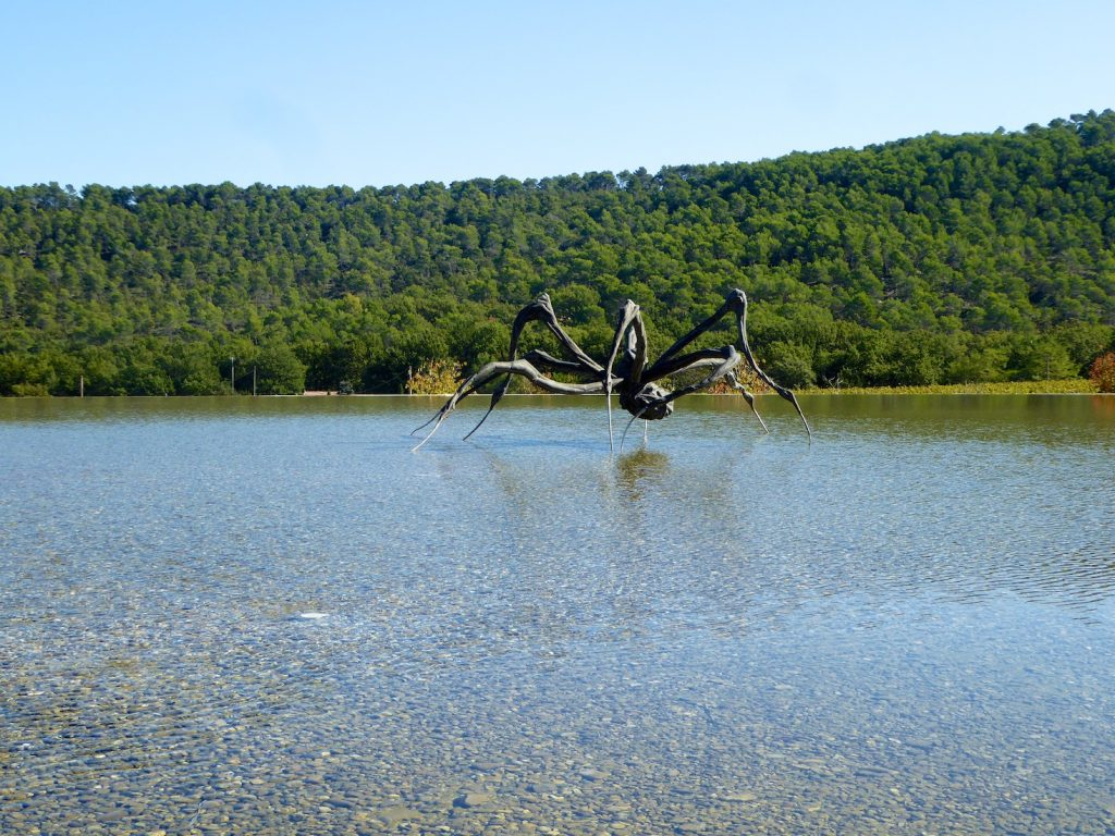 The Crouching Spider by Louise Bourgeois at Chateau La Coste, Le Puy-Sainte-Réparade, Bouches-du-Rhône, Provence, France