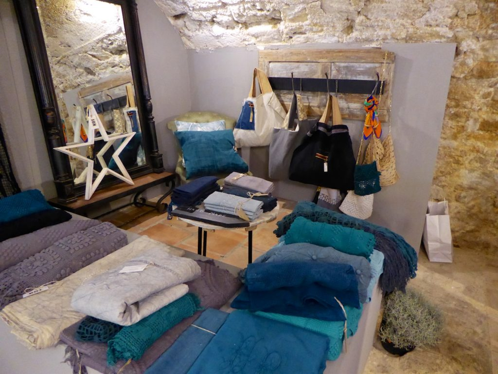 Linens sold by KOT Interior Shop Lourmarin, Luberon Vaucluse, Provence, France