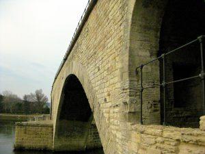 Arches of Pont d'Avignon/Bénézet,