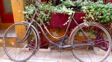 French bicycle in St Remy de Provence, Provence, France