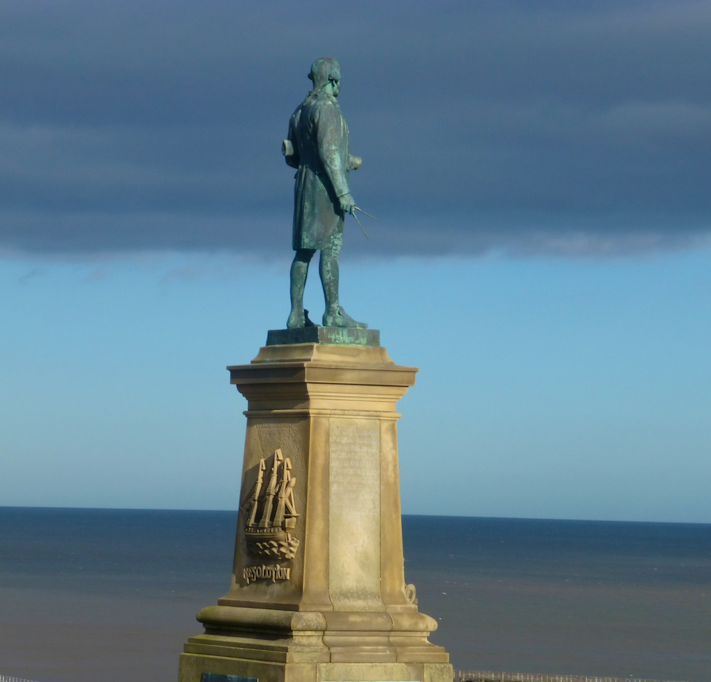 Statue of Captain James Cook in Whitby, England