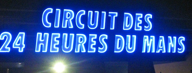 Sign at Le Mans 24 Heure race track Circuit