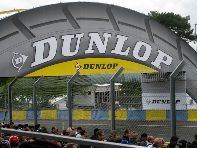 Dunlop Bridge at the race track at Le Mans, France