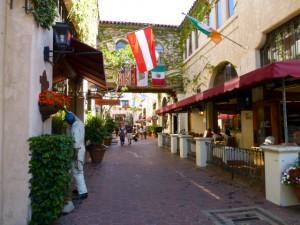 Santa Barbara Arcade, Santa Barbara California, USA