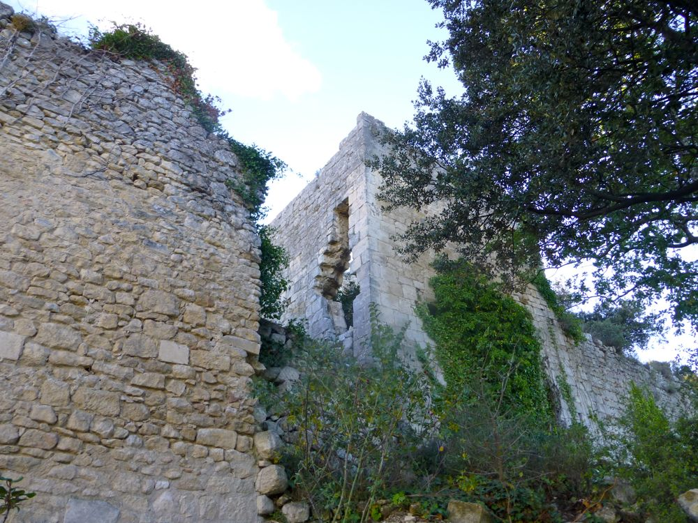 Castle ruins by Church at Oppède-le-vieux, Provence, France