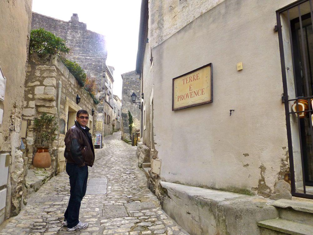 A street in Les Baux de Provence, France