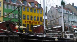 Nyhavn, Copenhagen, Denmark by the canal