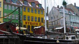 Nyhavn, Copenhagen, Denmark by the canal