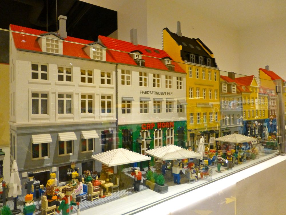 Copenhagen in Lego at the Lego flagship store, Copenhagen