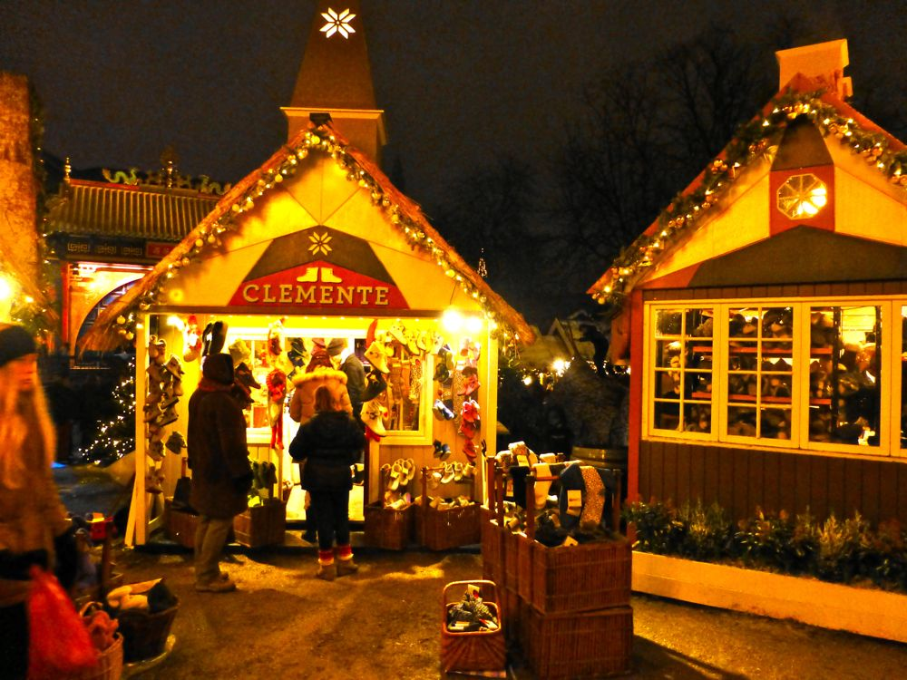 The Christmas Market in the Tivoli Gardens, Copenhagen, Denmark