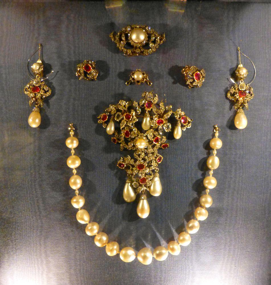A royal jewels, collection at Rosenborg Palace, Copenhagen, Denmark
