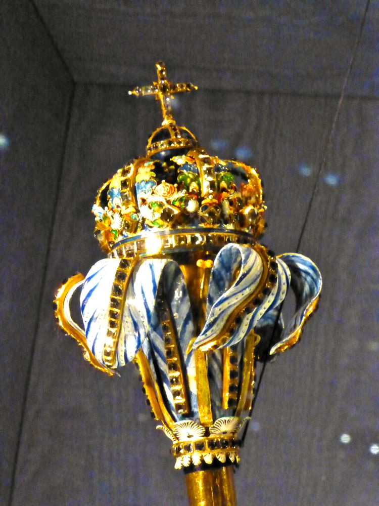 The royal scepter at Rosenborg Palace, Copenhagen, Denmark