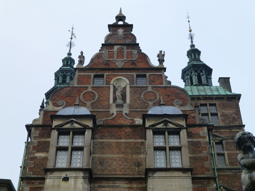 Outside at The Rosenborg Palace, Copenhagen, Denmark