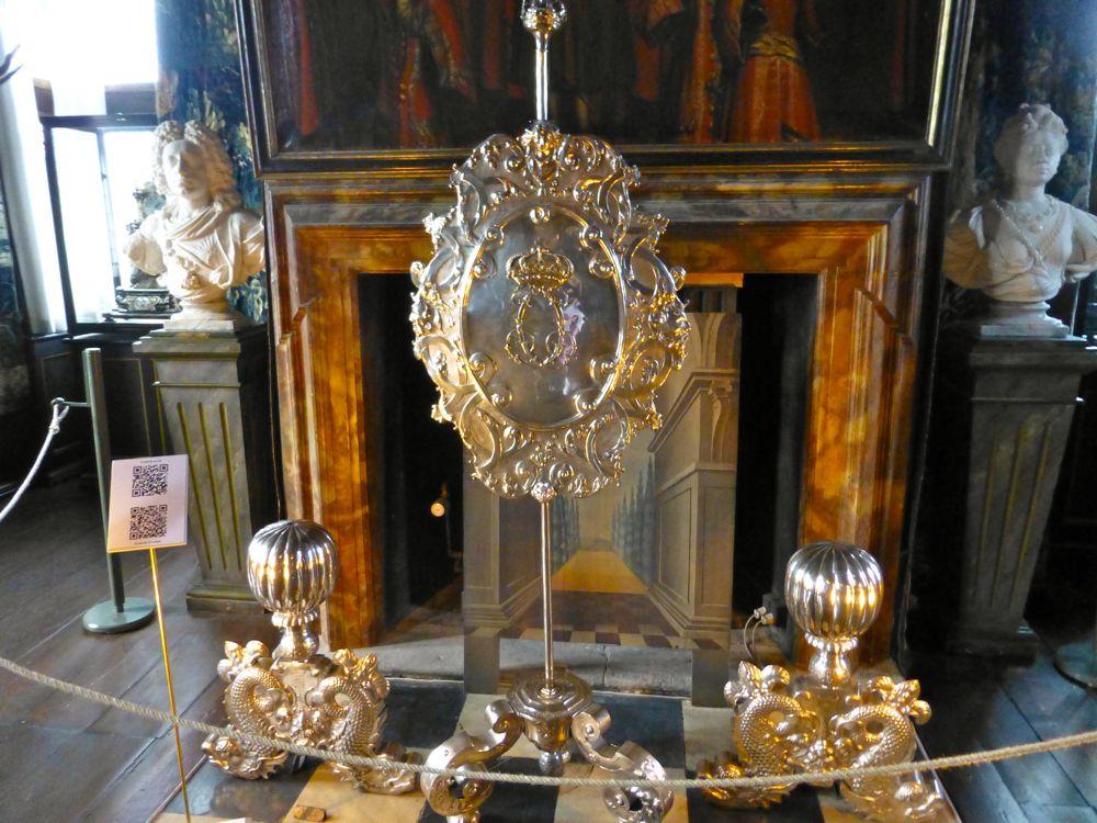 A fireplace at The Rosenborg Palace, Copenhagen, Denmark