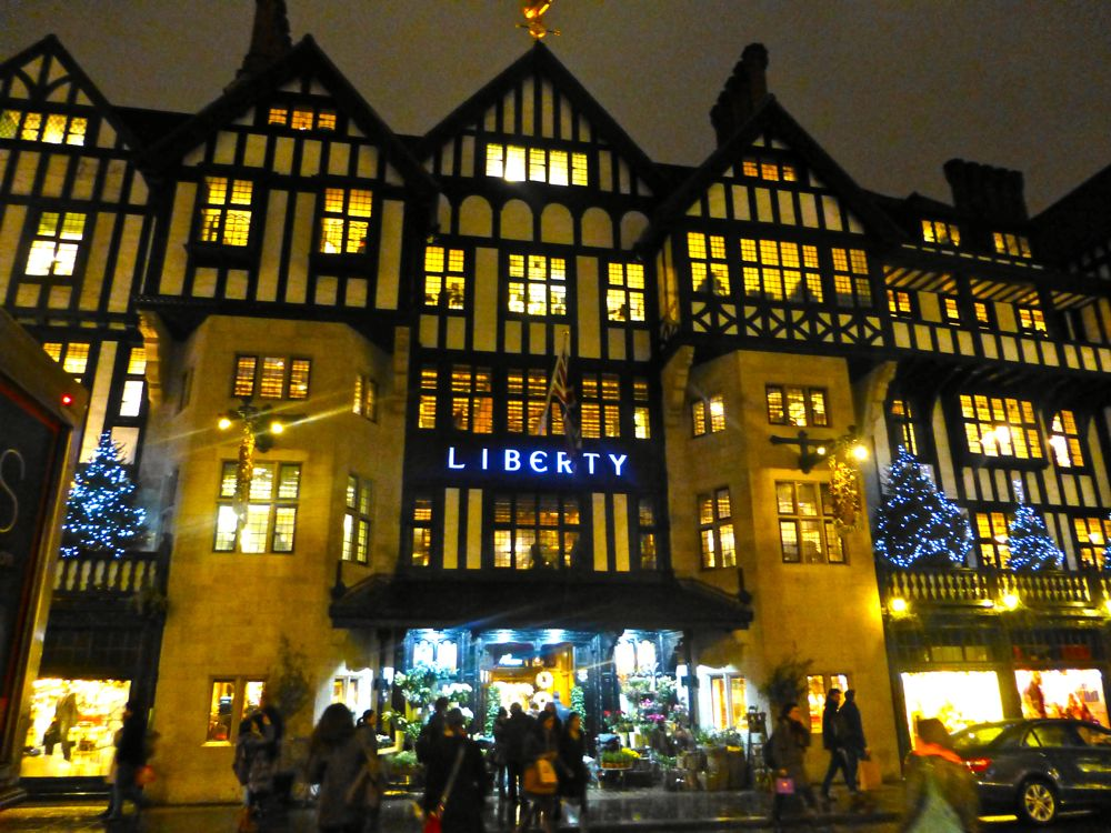 Liberty's of London, Christmas lights, December 2012