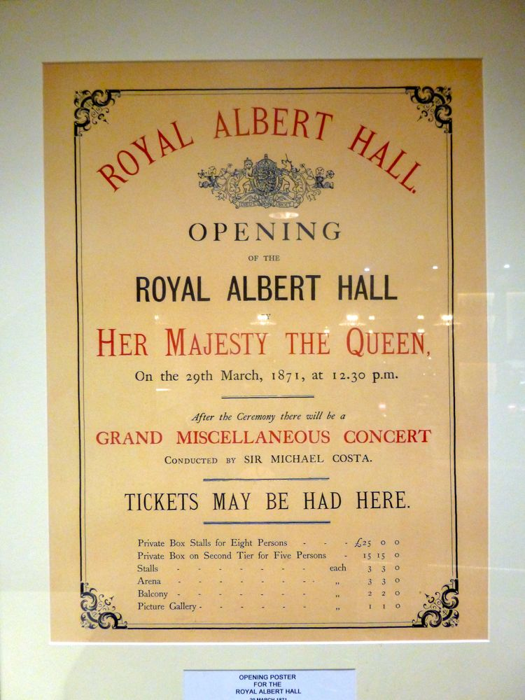 Opening of Royal Albert Hall, 1871 London England
