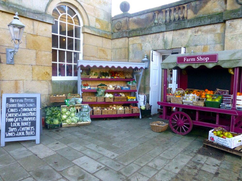 The Farm shop at Castle Howard, North Yorkshire, England, Christmas 2012