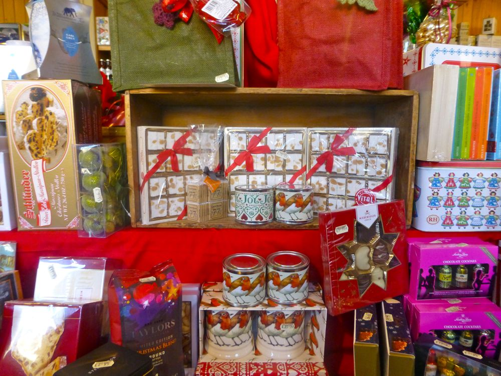 Christmas goodies at the farm shop at Castle Howard, North Yorkshire