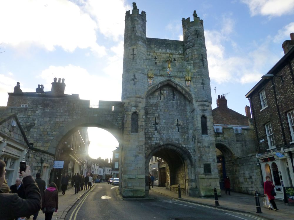 The gates to the city of York, England