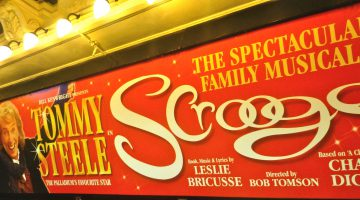 'Scrooge' at the theatre in London, England