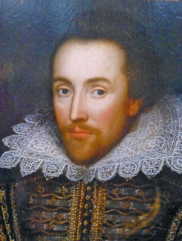 Portrait of William Shakespeare in Stratford upon Avon, England