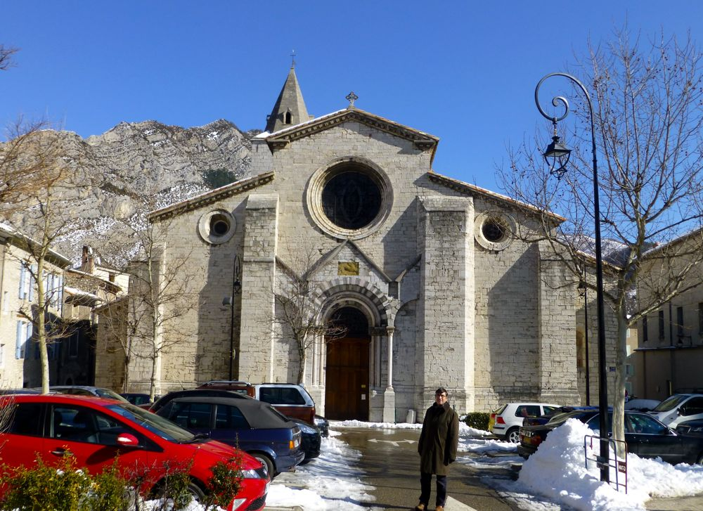 Cathedral in Sisteron, Provence, France