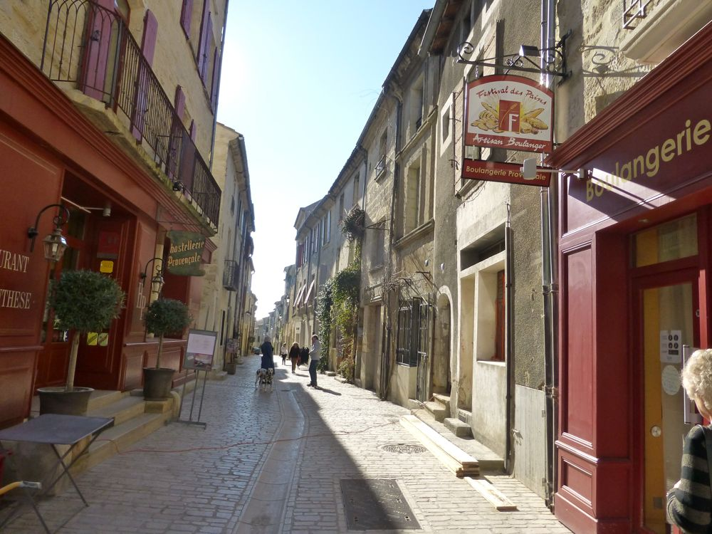 Le Grande Bourgade,Uzes, the street where we lived