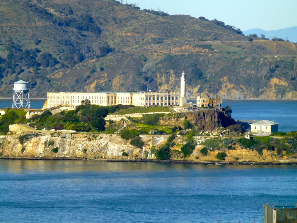 Alcatraz Prison in the Bay of San Francisco, California, USA