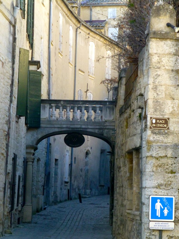 A street in Uzes, Languedoc Rousillon,