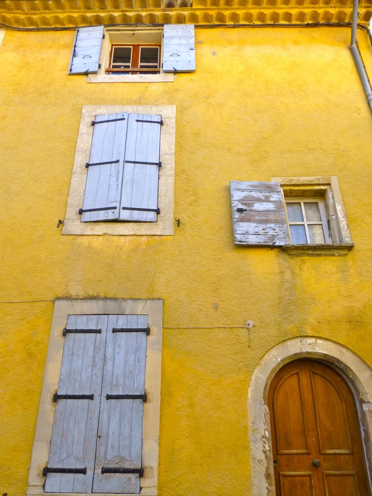 Ochre buildings in Lourmarin, The Luberon, Provence, France