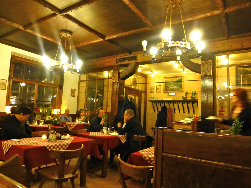 Traditional Austrian dinner in a 13th century Salzburg Restaurant
