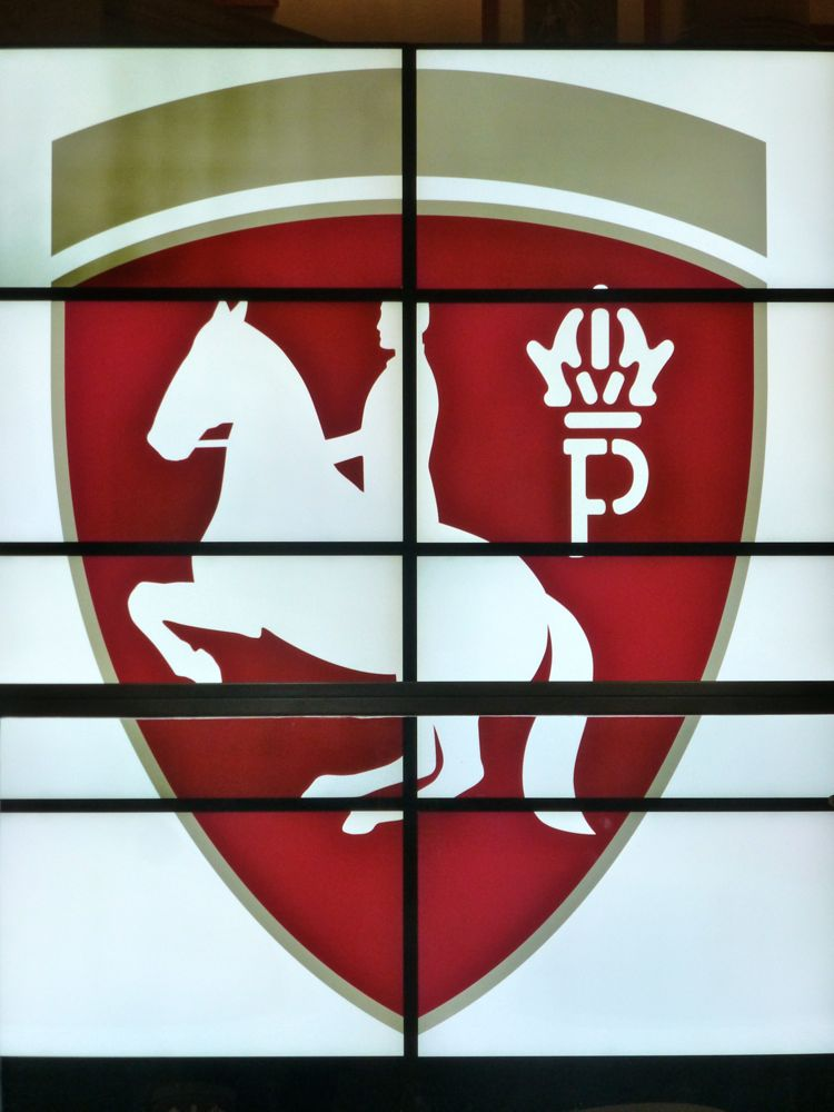 Crest of Spanish Riding School, Vienna, Austria