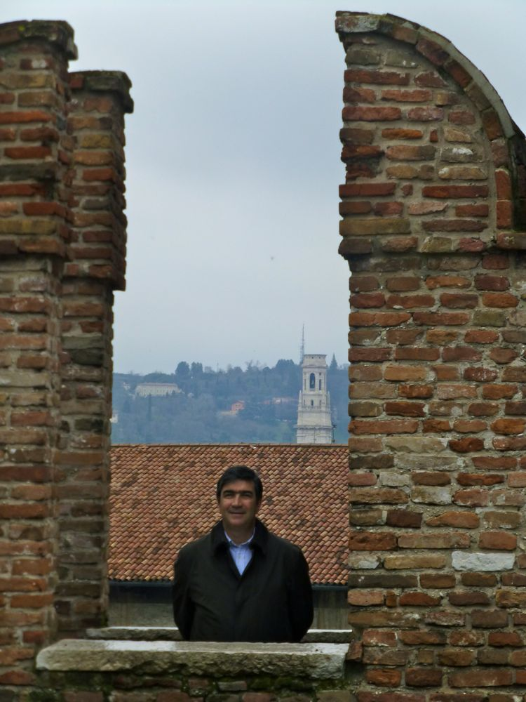 My 'Lorenzo' at Castelvecchio, Verona