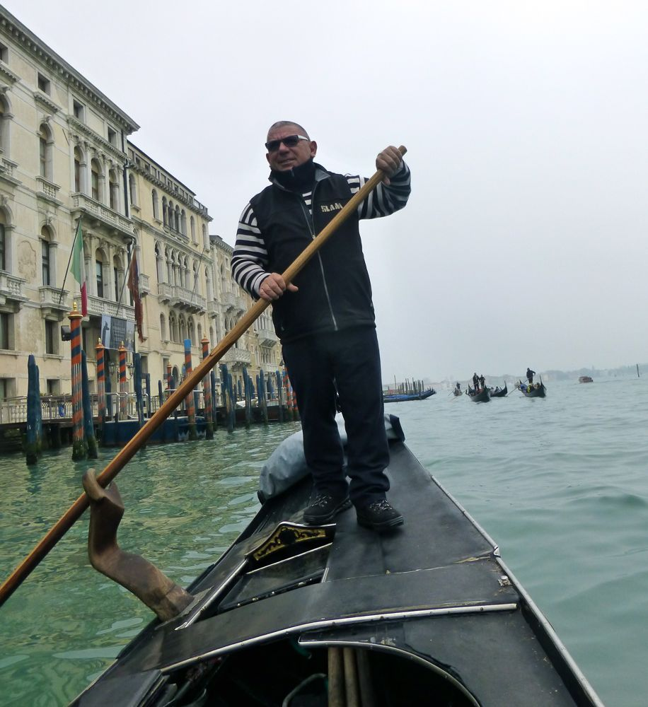 Our gondolier, Venice Italy!
