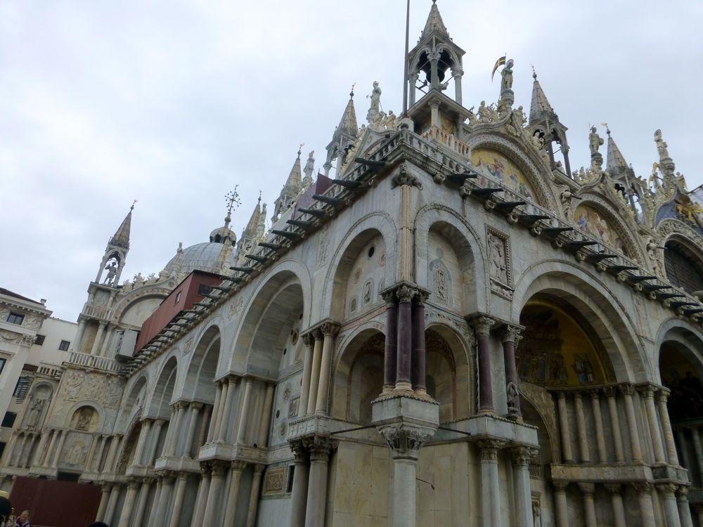 marble veneer buildings in Venice Italy
