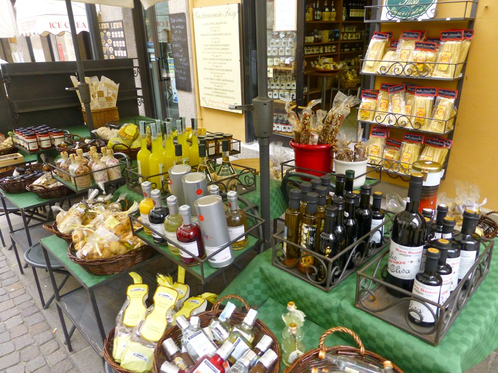 All things Italian, olive oils and pasta in Menaggio Lake Como, Italy